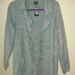 Torrid Grey Sweater Coat - Size 1 NWT